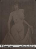 裸体绘画,新德里,印度
